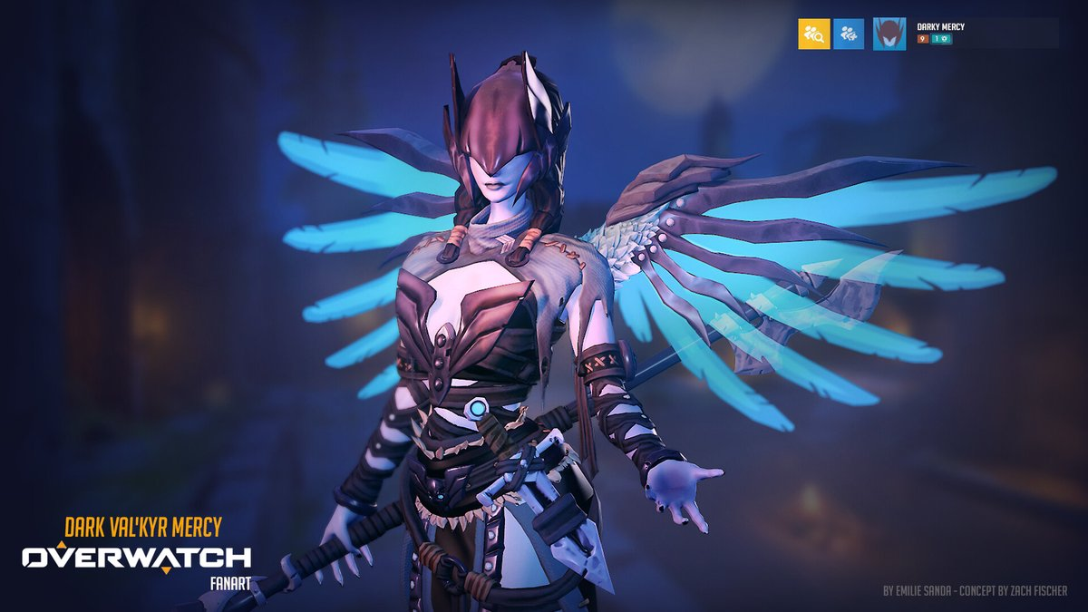 This time people are looking for Overwatch Dark Mercy Skins. Personally, I think the dark skin that already exists in Blizzard games is good. Sarah Kerrigan or Sylvanas Windrunner and Valkyr... 🦋3D Concept: @SandaEmilie 🎨Concept art: @ZachFischer