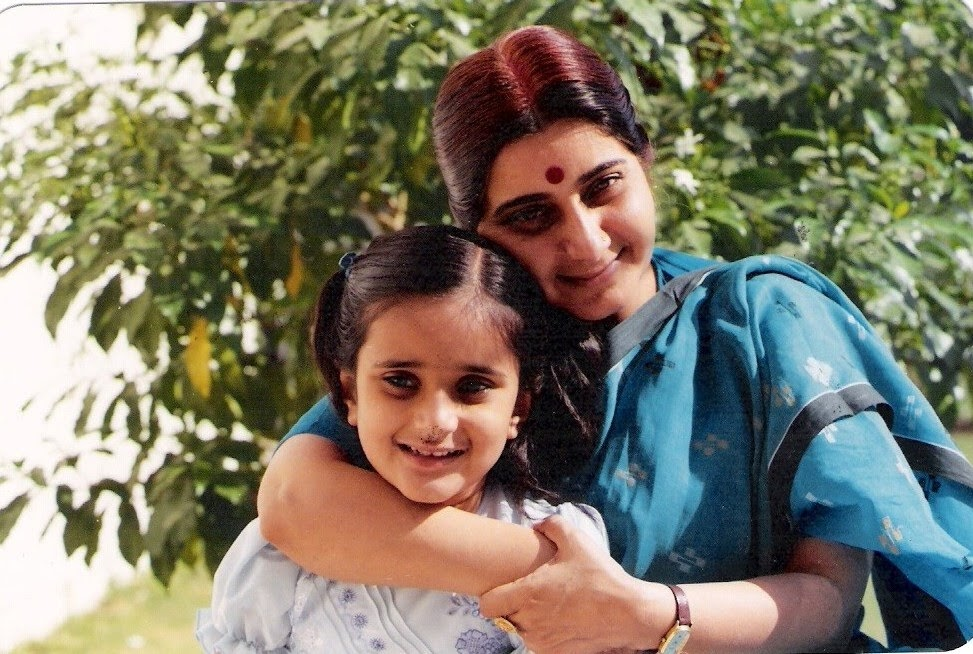 Happy Mother's Day @SushmaSwaraj. Miss you with every breath Ma.