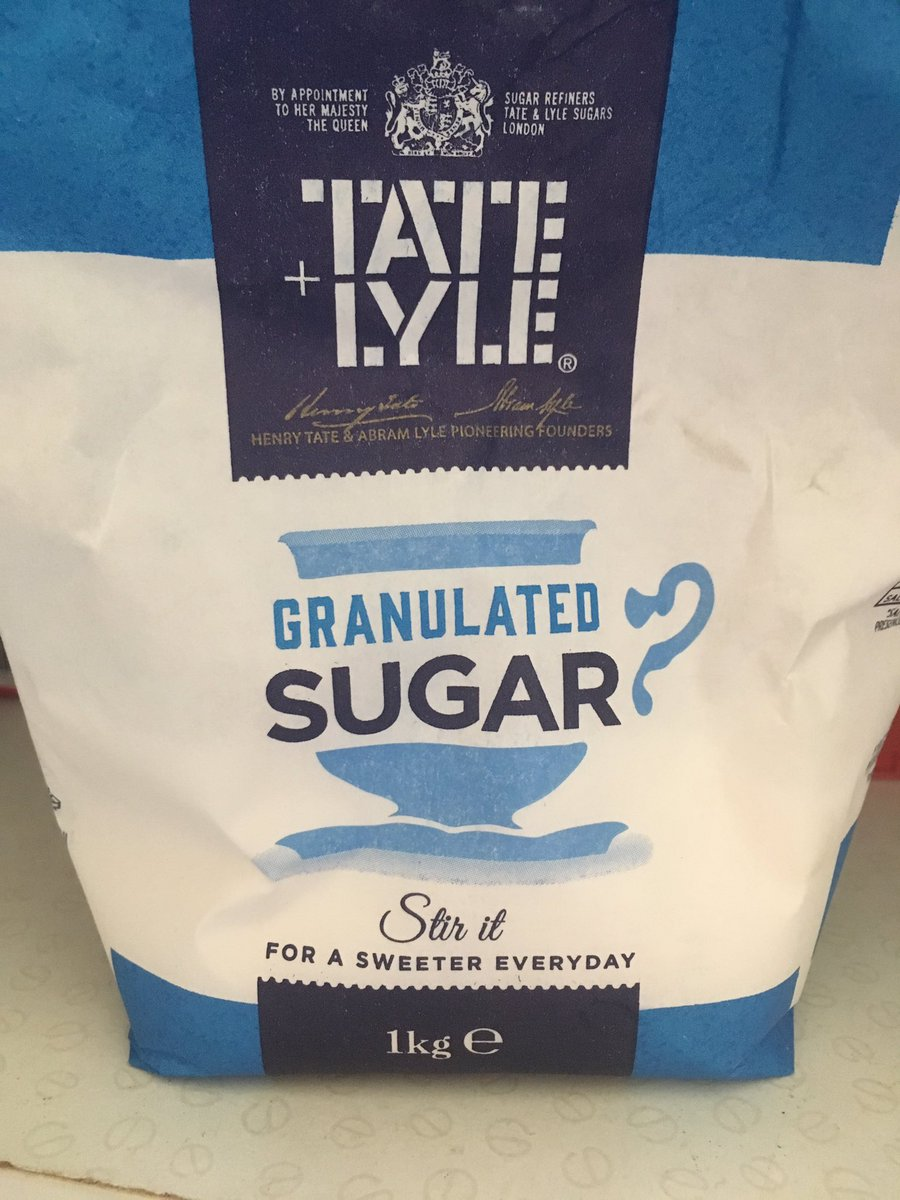 With the overstyled 'handle' are they asking or telling us 'granulated sugar ?'
