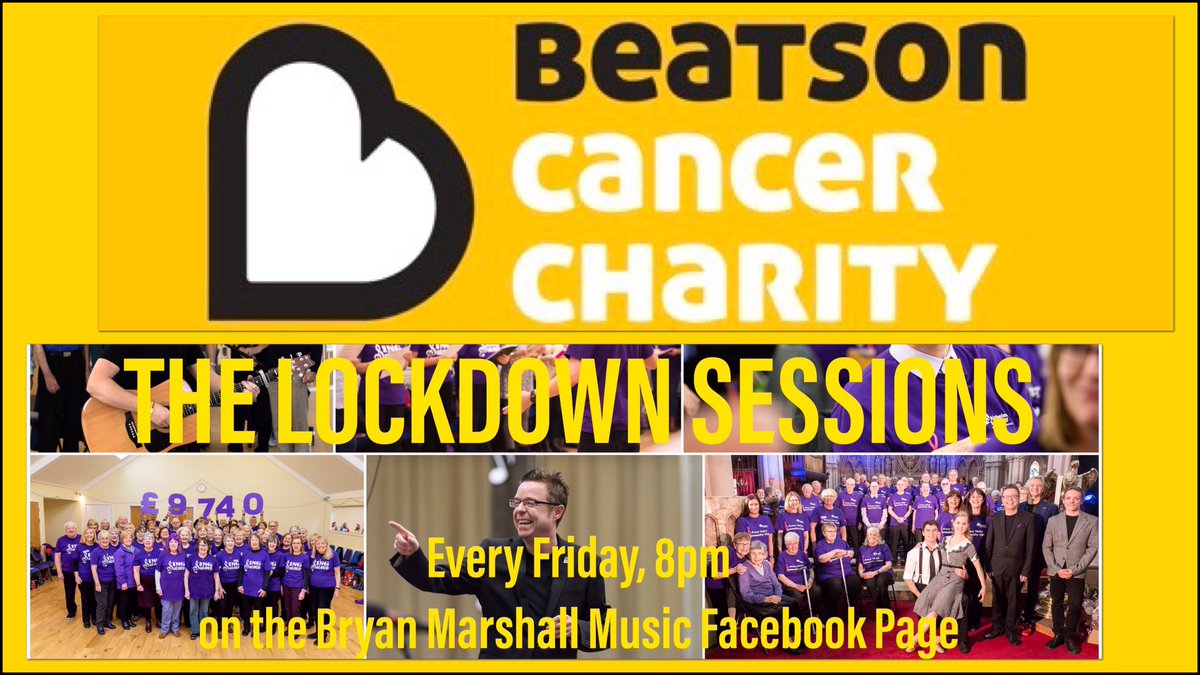 The Lockdown Sessions this week is a @Beatson_Charity fundraising special! Please join us for some songs & smiles and help us raise vital funds for this incredible charity! #justsing #bepositive #teambeatson Friday 15th May, 8pm on