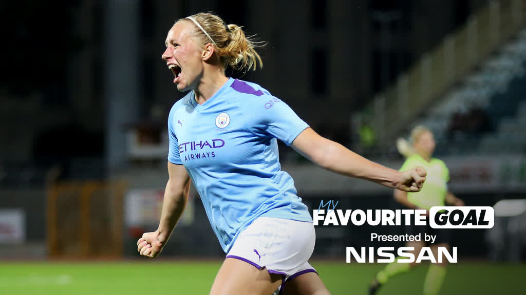 The goal you bagged that just keeps you smiling! 😀  @pauline_bremer shares her Favourite Goal.  ⚽️ @NissanFootball  🔵 #ManCity https://t.co/Z4uOqneniT