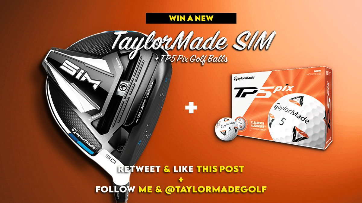 DRIVER + BALL GIVEAWAY! For a chance to win a SIM Driver and dozen TP5 PIX balls follow me and @TaylorMadeGolf ❤️ and Retweet this post. YOU ONLY HAVE 8 HOURS TO ENTER! Draw made today 8pm GMT #golf #giveaway