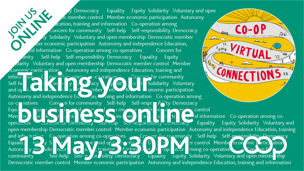 Free @CooperativesUK webinar tomorrow with our own @NickWeir63. This event will give #coops the chance to discuss and explore how they could take their services online to potentially save businesses struggling due to COVID-19. Sign up here: bit.ly/3eWkw0h
