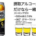 「ストロングゼロ」の凄さを再認識?アルコール量とカロリーが半端ない!