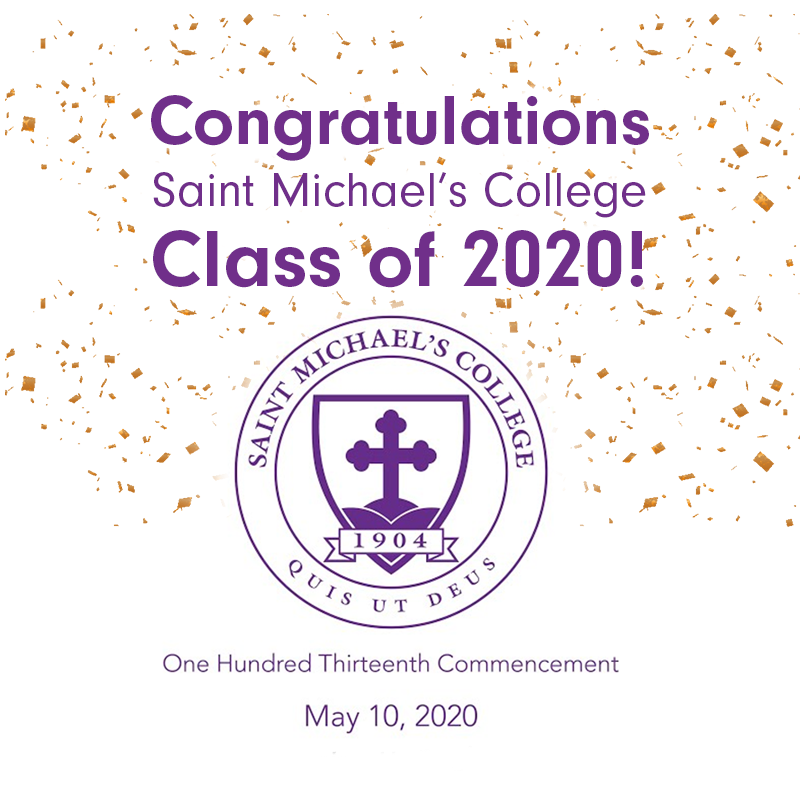 Congratulations to the graduating Class of 2020! 💜💛 Join us for a virtual commencement this morning at 10 am. For more information visit: https://t.co/mhkPuUMKmB . #smcvt #smcvt2020 #smcvtalumni https://t.co/FGCoudwMig