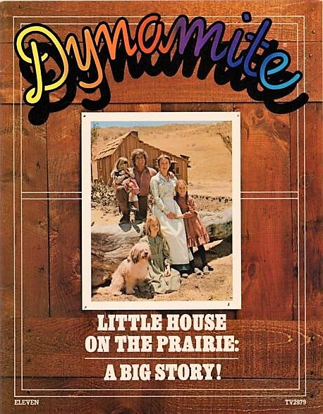 The May covers of the children's magazine #Dynamite in 1975 (#LittleHouseOnThePrairie), 1976 (#WelcomeBackKotter), 1977 (#Peanuts Charlie Brown and Snoopy), and 1978 (#ShieldsAndYarnell).<br>http://pic.twitter.com/OTurjDGvu1