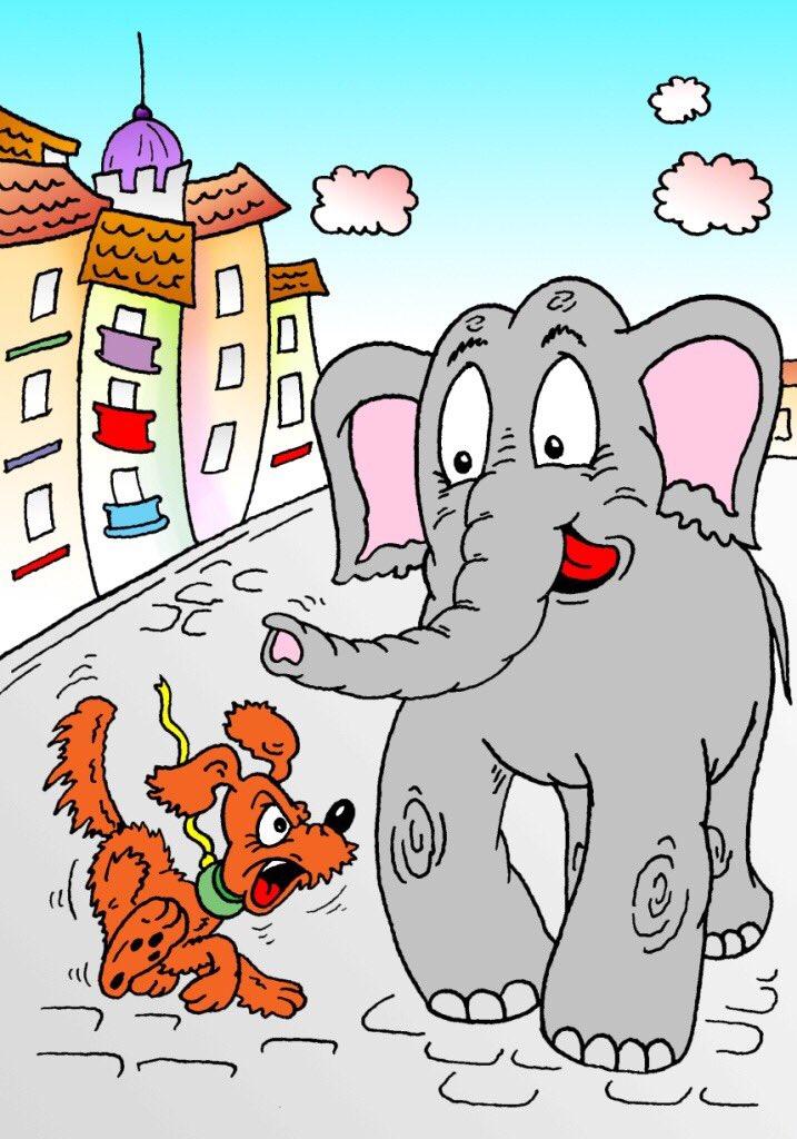 Картинка к басне крылова моська и слон