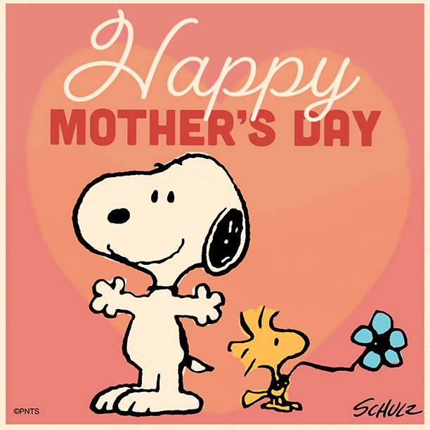Replying to @Snoopy: Wishing Mothers everywhere a Happy Mother's Day!