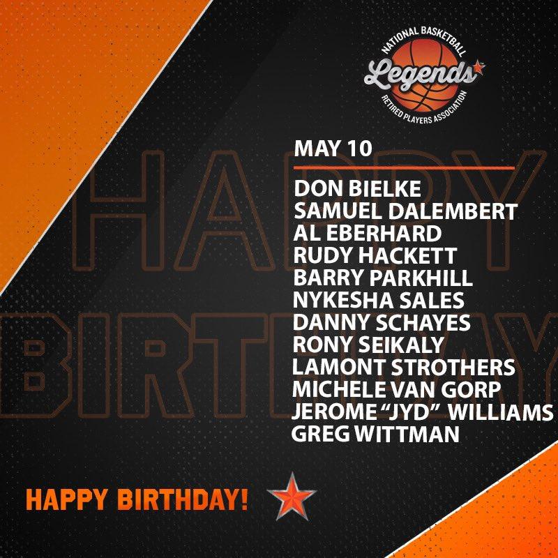 "Wishing a HAPPY BIRTHDAY to these Legends and @NBAalumni Director Jerome ""JYD"" Williams (@JunkYardDogJW) 🎉   #LegendsofBasketball #NBABDAY #WNBABDAY https://t.co/s4KlSg3qft"