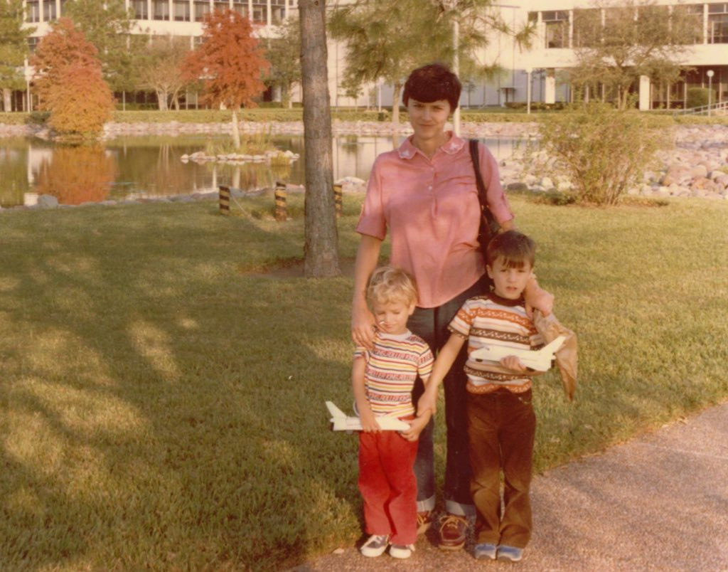 #HappyMothersDay to a wonderful mom that has supported me through every step on and off the planet! @NASA_Johnson circa 1981