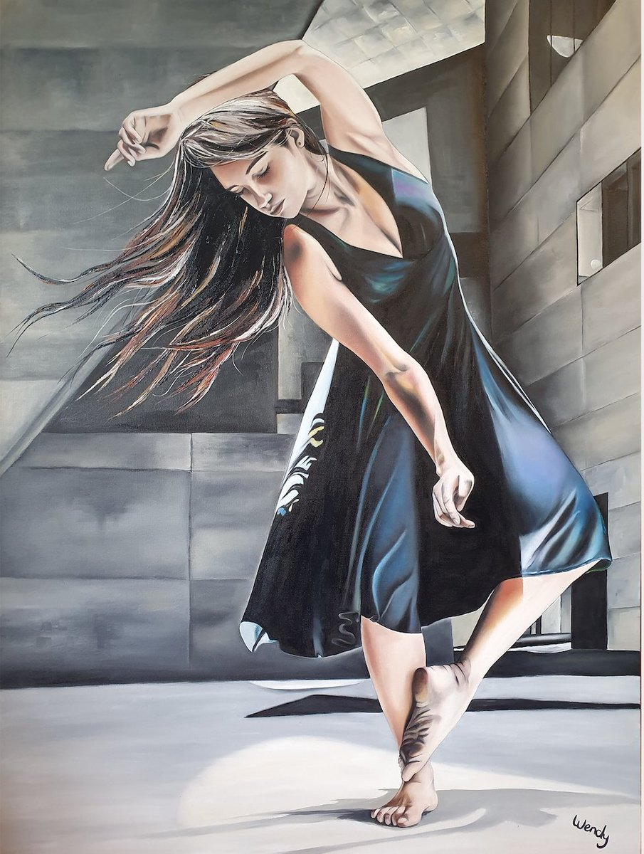 Oil on canvas: 36 x 48 inches / 91,4 x 121,9cm; Model: The beautiful dancer Livia Martinez Loureiro