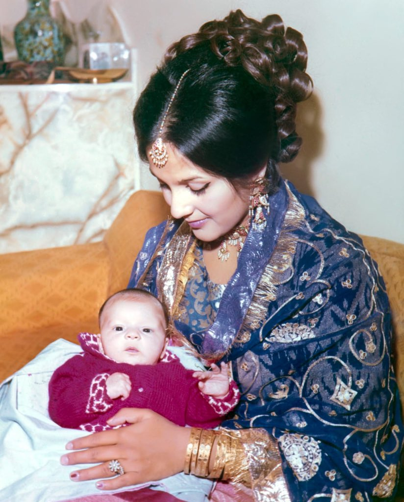 They say 'in time' it gets easier, but it actually never does. Value and cherish your parents while you have them. Theirs is the only 'unconditional love'. This is a one month old me in the safest place on earth- my mother's lap. Occasion: @CMShehbaz wedding.