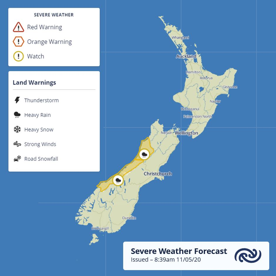 The Heavy Rain Watch over southern Westland has been extended into northern Westland & southern Buller starting from tonight. For more details see bit.ly/SWWatch ^AC