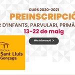 Image for the Tweet beginning: Preinscripcions Curs 2020-2021 Teniu tota