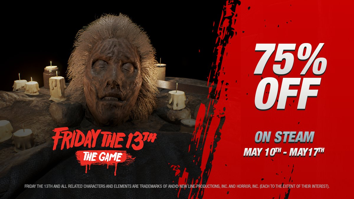40th Anniversary of the original Friday the 13th AND Mothers Day in one weekend? Celebrate with 75% off Friday the 13th: The Game on @Steam!