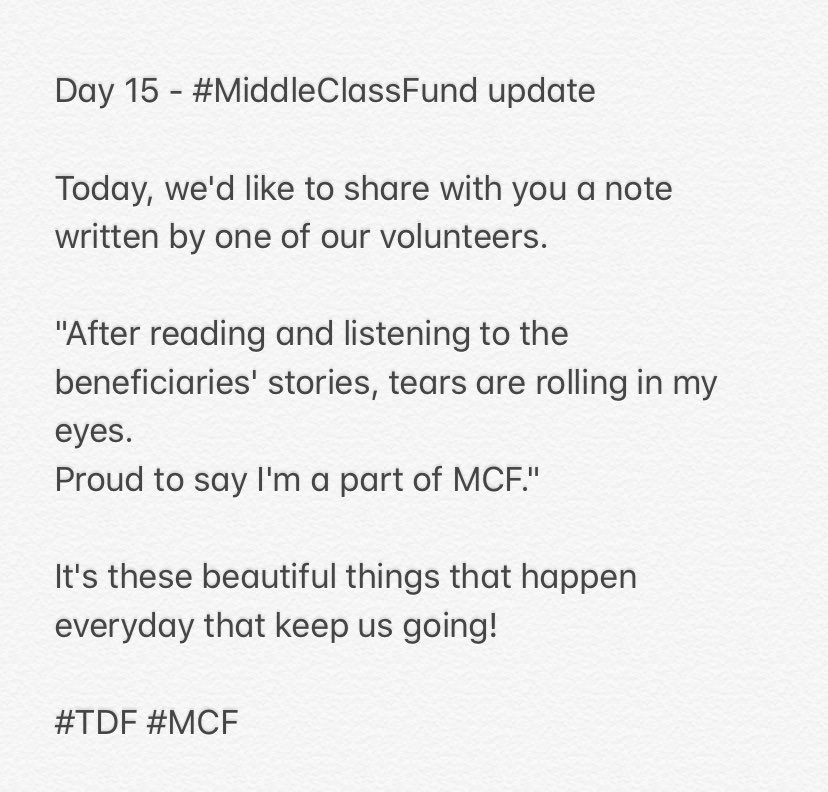 Day 15 - #MiddleClassFund Update   #TDF #MCF https://t.co/RtsQd1yRS8