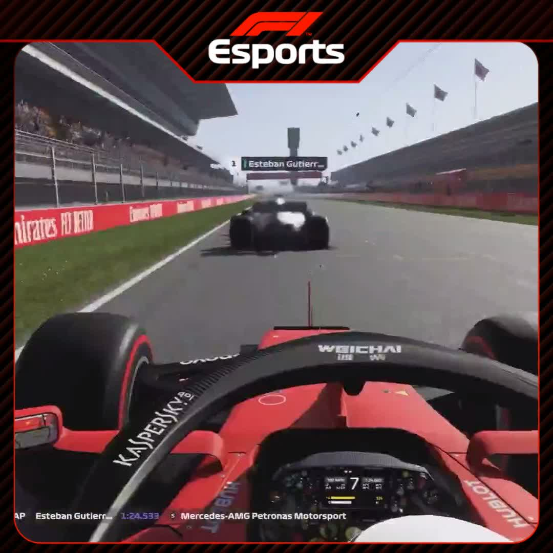 It's (Virtual) Race Week!!  The #VirtualGP is BACK on Sunday, and we're excited for more wheel-to-wheel moments like this...  Stay tuned for driver announcements throughout the week 👀  #F1Esports 🎮 #F1