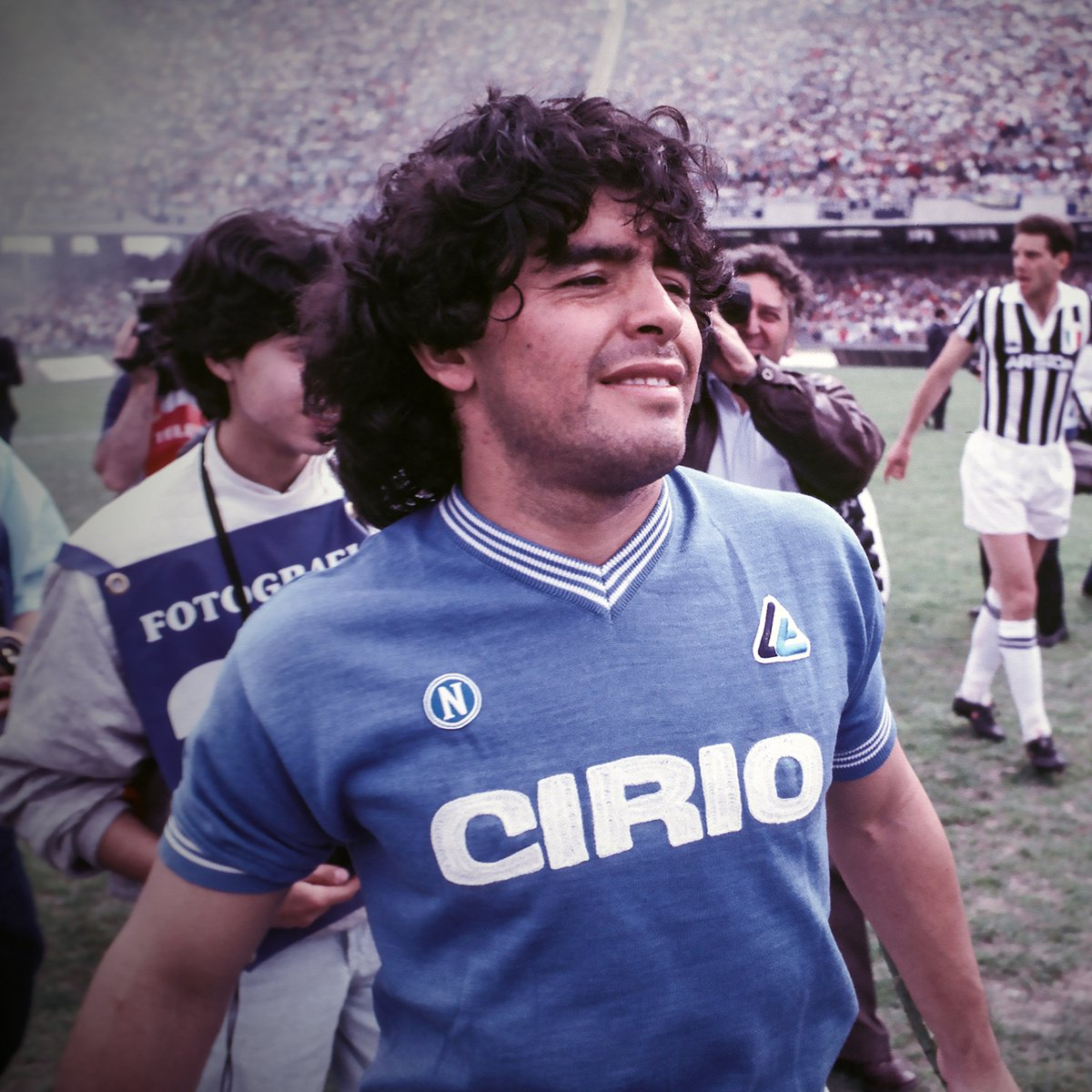 """B/R Football on Twitter: """"Diego Maradona helped Napoli to their first-ever Serie A title 33 years ago today. Forever an icon of the city 🙌… """""""