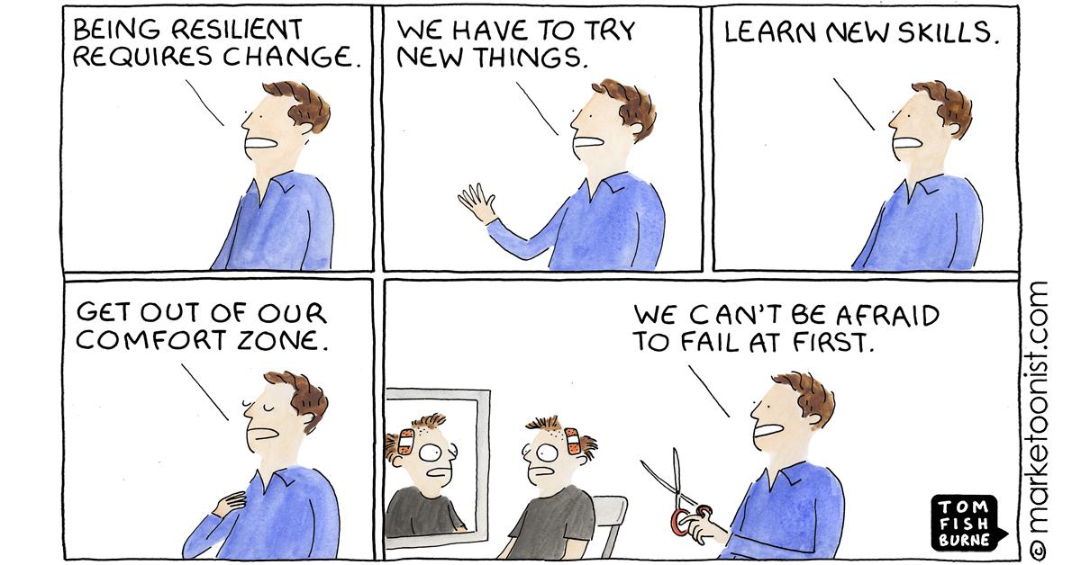"""Resilience and Change"" - new cartoon and post https://t.co/56uIFf0twl #marketing #cartoon #marketoon https://t.co/ijmgVhEJyc"