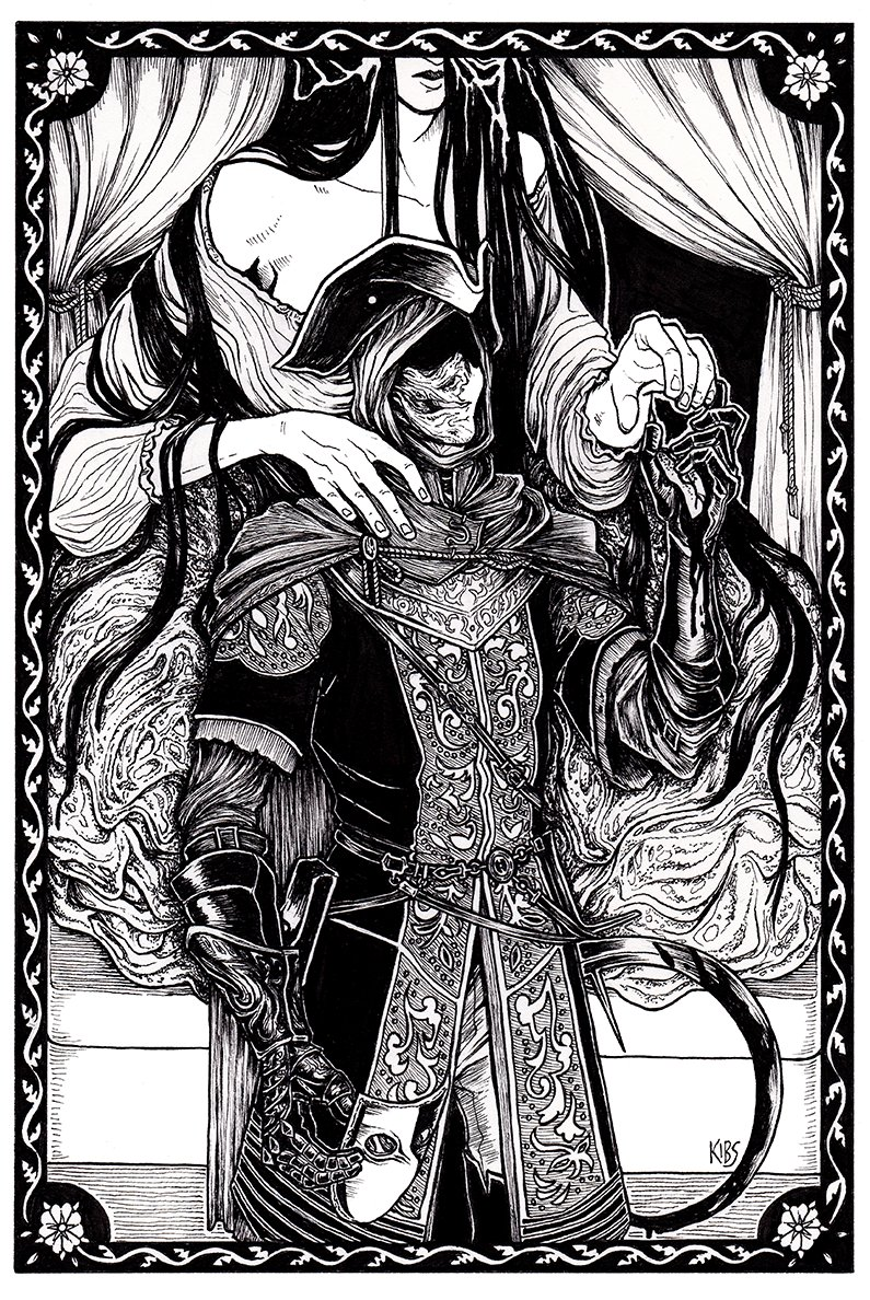 A couple drawings of Ringfinger Leonhard from Dark Souls 3. #darksouls #fromsoft https://t.co/yBgbymARdd