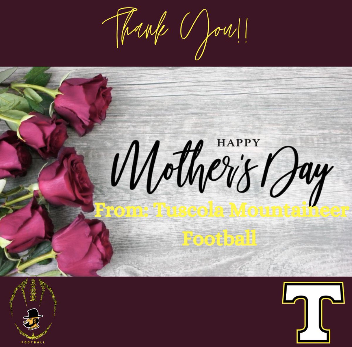 Happy Mother's Day to all of our AMAZING Tuscola Mountaineer Football Moms!! Y'all are the best!   #HappyMothersDay #WinTheDay #TuscolaFootball  pic.twitter.com/bL001VkZmL