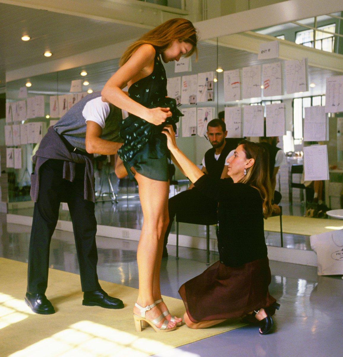 "Happy Birthday, Miuccia Prada. The Italian fashion designer turned 71 today. ""Fashion is instant language."""