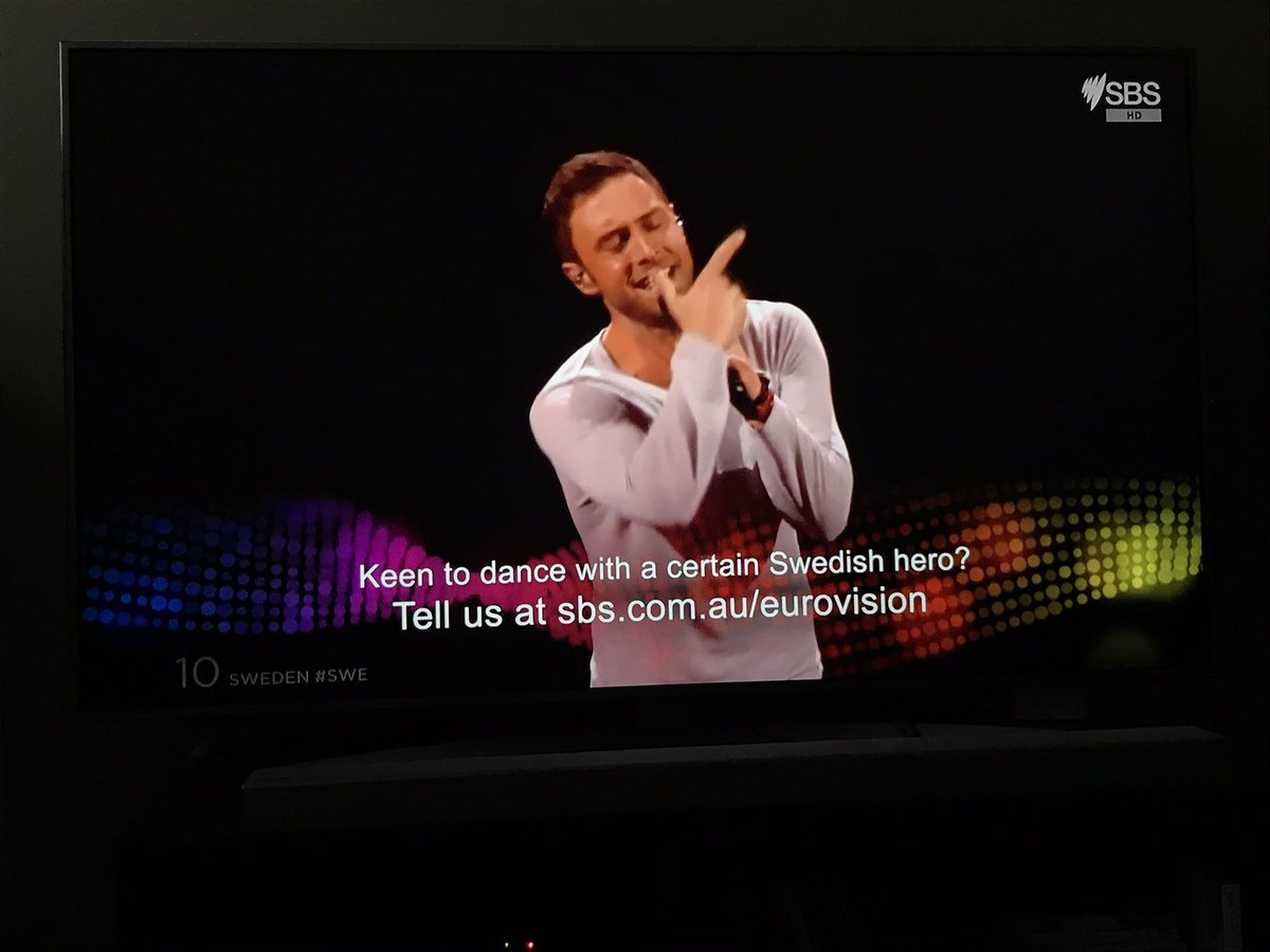 And here he was, the winning performance of 2015, the legendary @manszelmerlow, and how lucky was I getting to see him recreate this brilliant performance back in February on the Gold Coast at #Eurovision #AusDecides!?! He was clearly a superstar. #SBSEurovision #Eurovision2015pic.twitter.com/sEDrGSllAL
