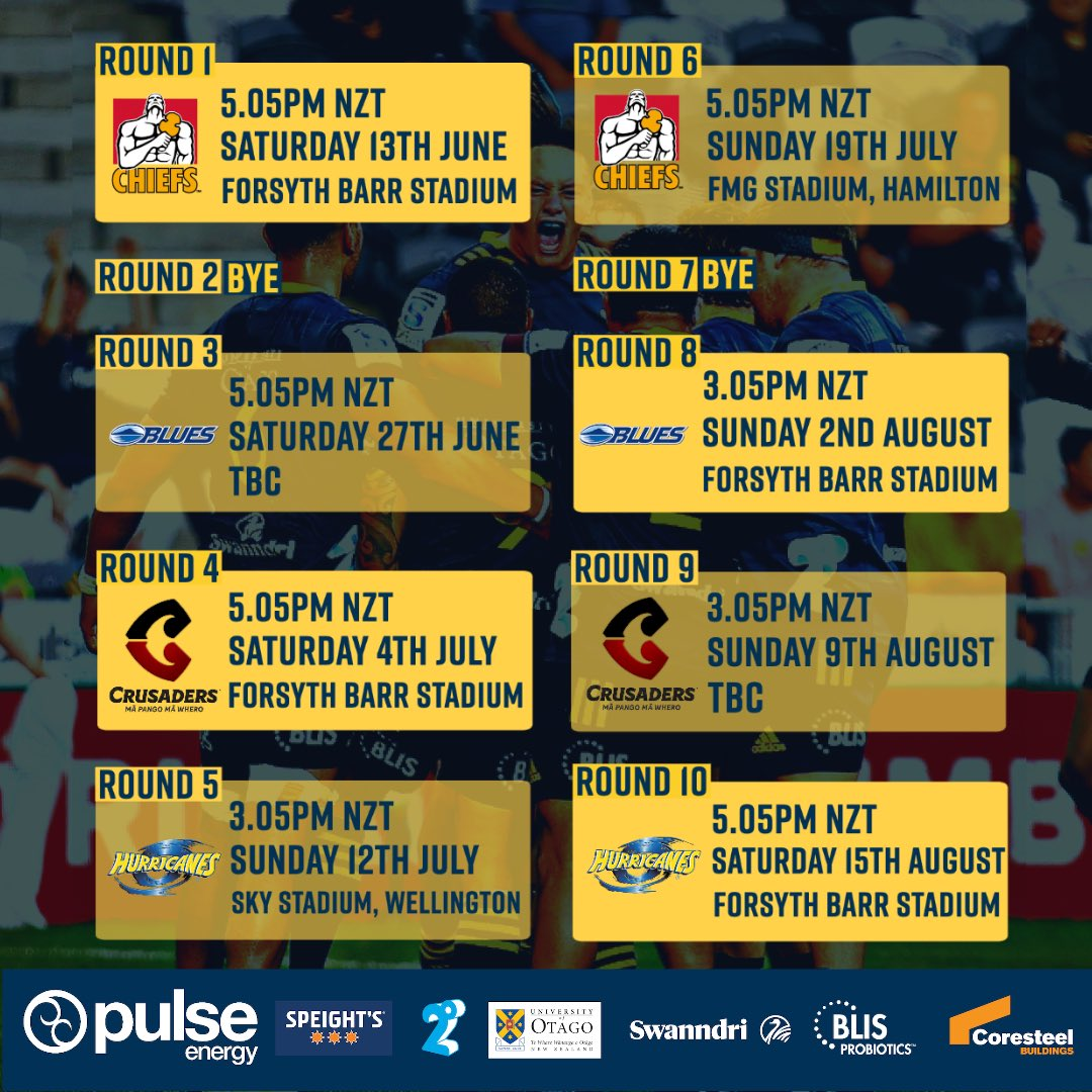 SUPER RUGBY IS BACK! First game vs @ChiefsRugby on the June 13th 💥 #WhereExcitementHappens