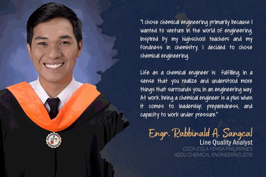 Engr. Rabbinald A. Sangcal Line Quality Analyst Coca-Cola FEMSA Philippines Batch 2019