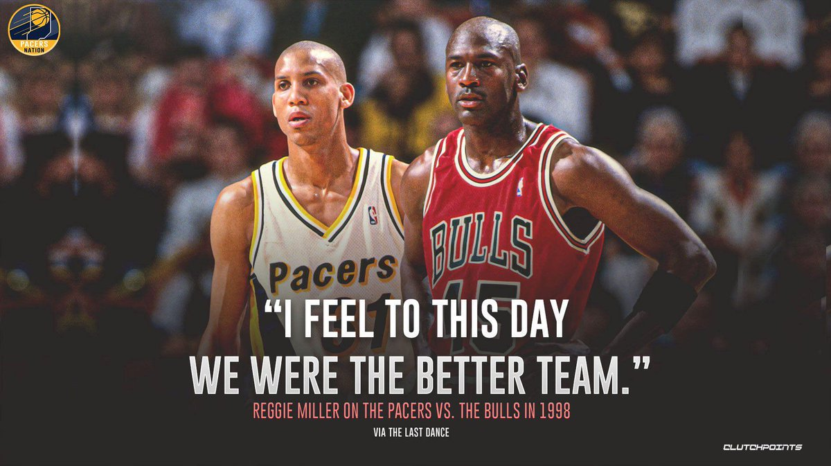 We believe so too, Reggie Miller. 🤜🤛 https://t.co/MYw8jvPKky