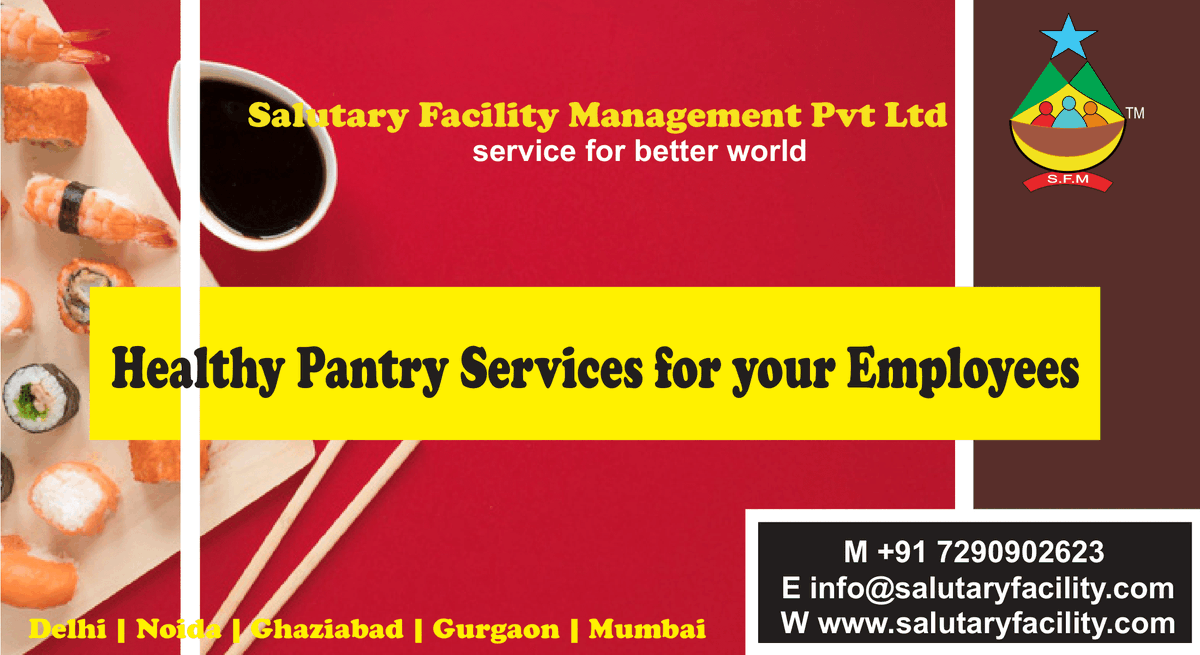 One-Click away from #Healthy #Pantry #Service in #Delhi | Noida | Gurugram | Ghaziabad | Mumbai  Call Our Team: ☎ 7290902623  Mail Us:info@salutaryfacility.com  Visit Us: https://t.co/p9HHLUrQ6u  #pantryboy #pantryboyservice #officeboyservice https://t.co/uGLuVrVw3E