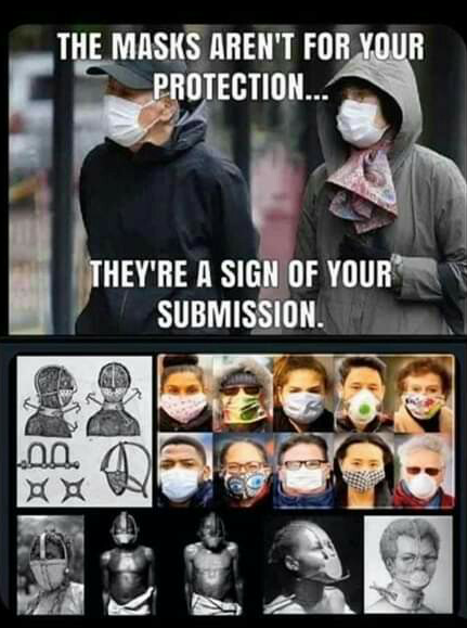 The masks arent for your protection...theyre a sign of your submission. - Unknown