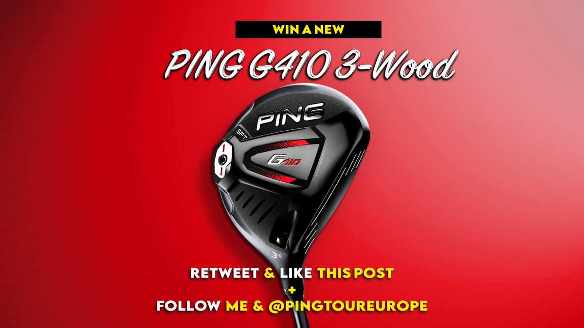 FAIRWAY WOOD GIVEAWAY! For a chance to win a PING G410 Fairway follow me and @PINGTourEurope ❤️ and Retweet this post. YOU ONLY HAVE 8 HOURS TO ENTER! Draw made today 8pm GMT #golf #giveaway