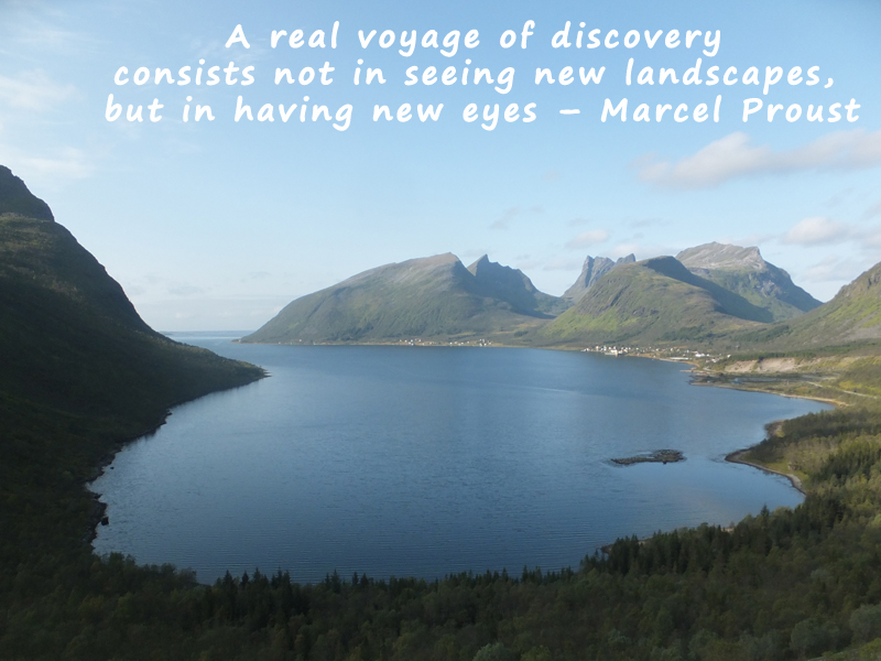 A real voyage of discovery consists not in seeing new landscapes, but in having new eyes – Marcel Proust #MondayMotivation