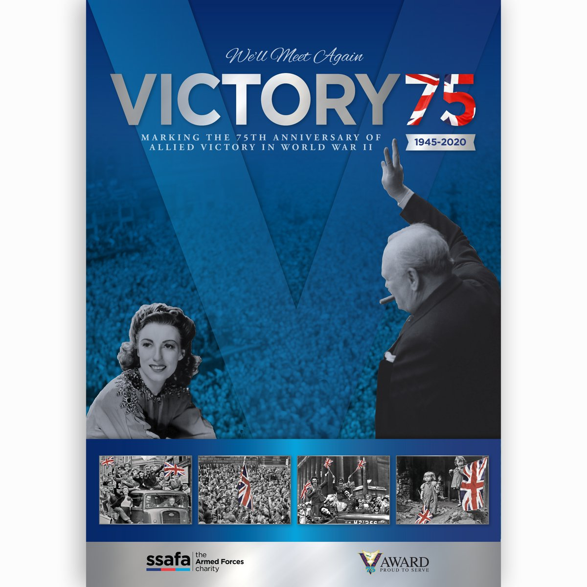 Be part of this year's Victory celebrations by purchasing 'Victory75: We'll Meet Again' - our 140-page, full-colour commemorative album which evokes the spirit of 75 years ago, as well as now.  Price £12.50 (incl. P&P) ▸ https://t.co/9bNgiUnz5I  #VEDay #VEDay75 https://t.co/t4lpMiz8Cs