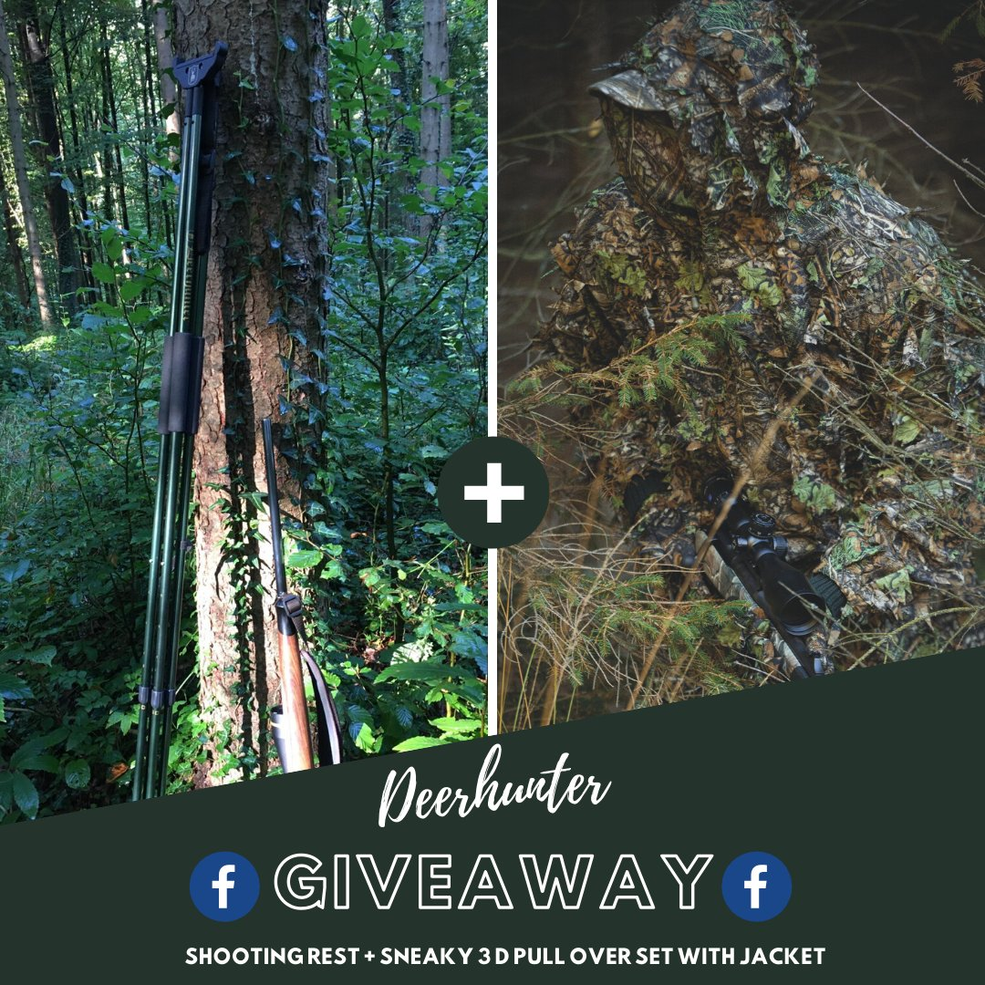 We have a cool giveaway on our Facebook where you can win a sneaky 3D camo and a shooting rest - perfect for🦌 hunting  https://t.co/Wwal4QpOnl  We will find a winner on Thursday, May 14 at 12 Noon🍀  #Deerhunter #huntinggear #camouflage #huntingseason #roebuck #roebuckhunting https://t.co/VMm4rivtaR