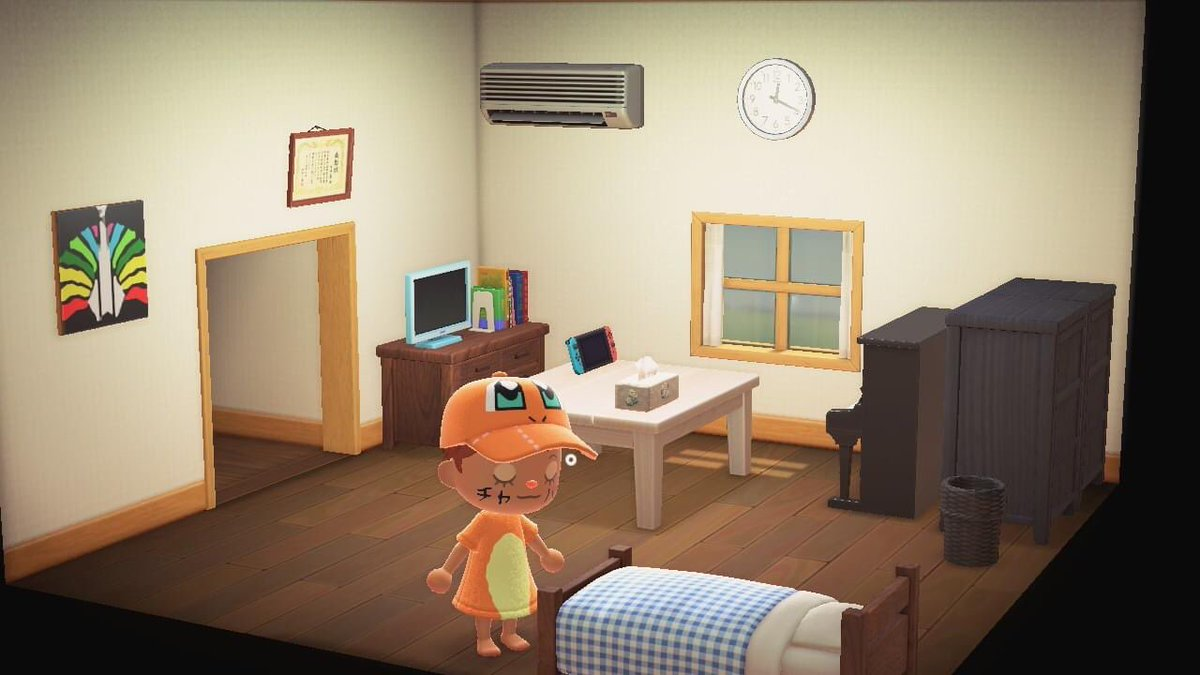 自分の住んでる部屋再現しました。これって個人情報ですか?#あつまれどうぶつの森#どうぶつの森