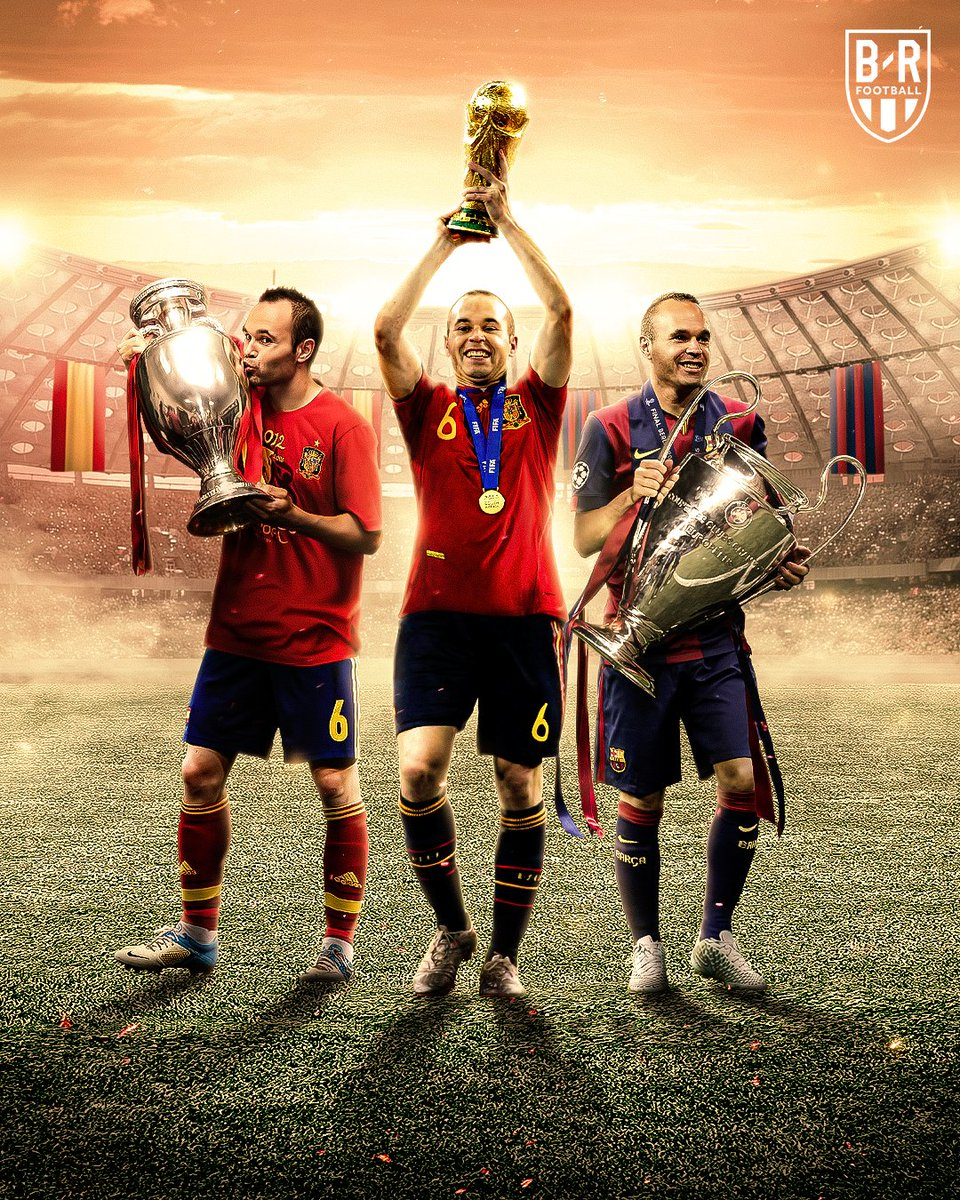 Andres Iniesta turns 36 today.  He's the only footballer in history to be named Man of the Match in the World Cup, European Championship and Champions League final.   Legend. 🇪🇸