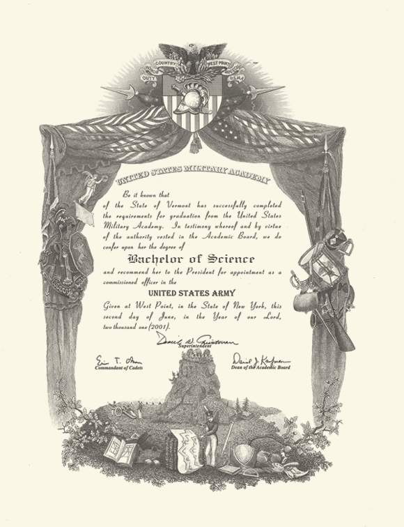 #OTD 25 May 1933 An Act of Congress authorized USMA to award a Bachelor of Science degree. Previous graduates received only a diploma & commission. First B.S. degrees awarded to Class of 1934, but in 1937 Act was amended to award all living graduates retroactive B.S. degrees https://t.co/jrN6crJbY4