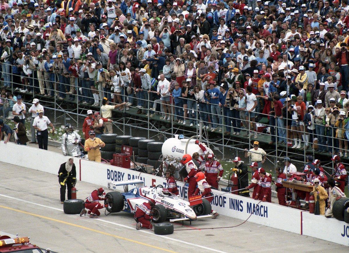 105 days-104th #Indianapolis500 @IMS #IsItAugustYet 1984 #5 @BobRahal pits. Countdown 2 Raceday, Every Day by Following. @GrahamRahal @RLLracing @TakumaSatoRacer @BluWorldwide @BradCullison64 @danger_moose @IndycarMoose @TheindyCraig @SteveOgleJr @jonathanlparker @boilerdougherty https://t.co/FI1NNTON7c