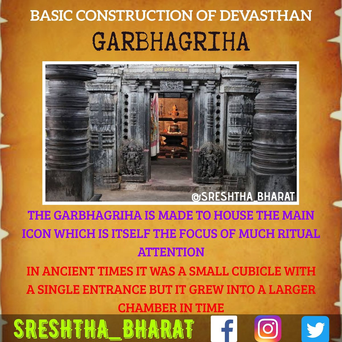 #temple_architecture  We will be getting closer to the Great Temple Architecture of our Sreshtha Bharat  Follow @Sreshthabharat on Facebook | Instagram | Twitter 🙏  #indianculture #indianarchitecture #hinduarchitecture #temple  #worship #templeworship #dravida #mandir #devasthan https://t.co/Ji4MplTo43