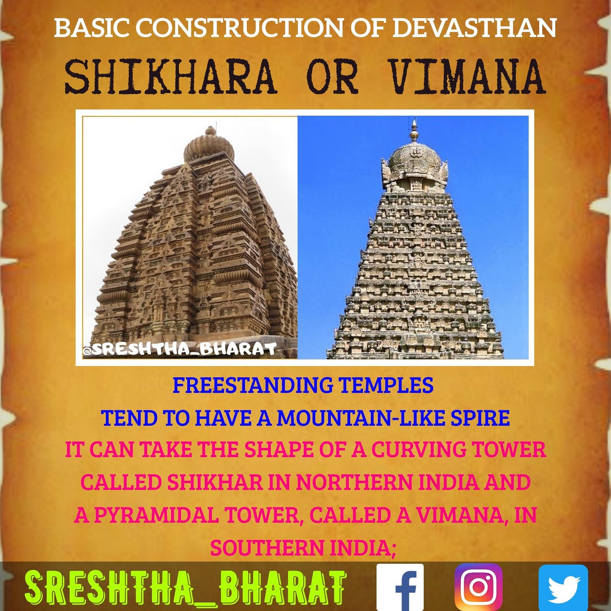 #temple_architecture  We will be getting closer to the Great Temple Architecture of our Sreshtha Bharat  Follow @Sreshthabharat on Facebook | Instagram | Twitter 🙏  #indianculture #indianarchitecture #hinduarchitecture #temple  #worship #templeworship #dravida #mandir #devasthan https://t.co/Jim7G7m93S