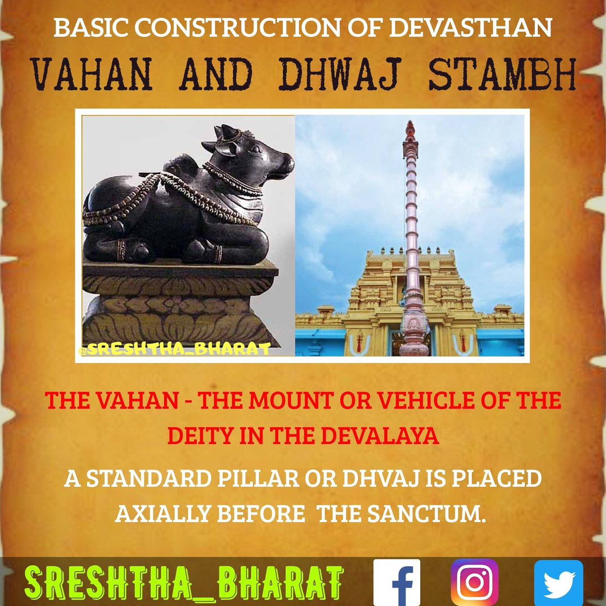 #temple_architecture  We will be getting closer to the Great Temple Architecture of our Sreshtha Bharat  Follow @Sreshthabharat on Facebook | Instagram | Twitter 🙏  #indianculture #indianarchitecture #hinduarchitecture #temple  #worship #templeworship #dravida #mandir #devasthan https://t.co/C788ECWJgN