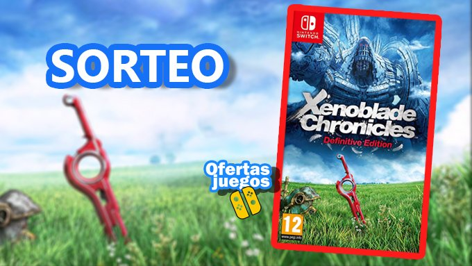 Sorteamos un Xenoblade Chronicles Definitive Edition  Para participar: 🔸RT 🔸Menciona a tres amigos 🔸Síguenos en Telegram OfertasJuegos Nintendo https://t.co/qGlidy4pVJ https://t.co/XIMzYsp2er