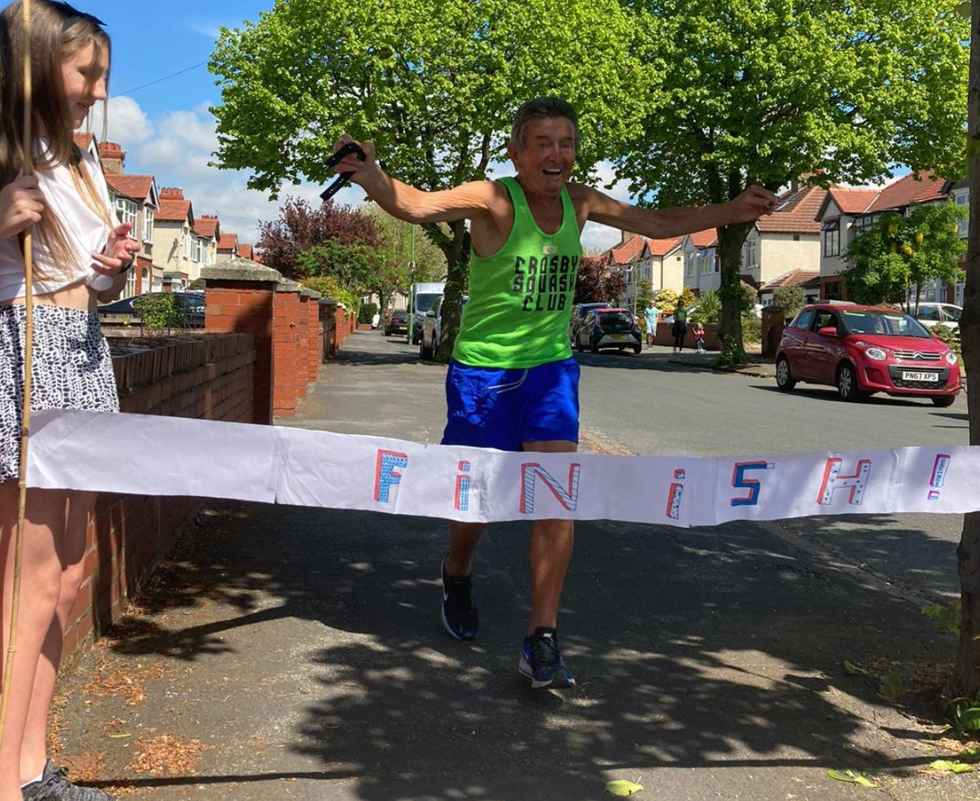 We are thrilled to have supported the amazing Dennis Gill who has unbelievably ran a marathon in his Crosby back garden over the past few weeks despite suffering from Parkinson's. He has raised over £12k for @ParkinsonsUK. What an incredible achievement🏆⭐️