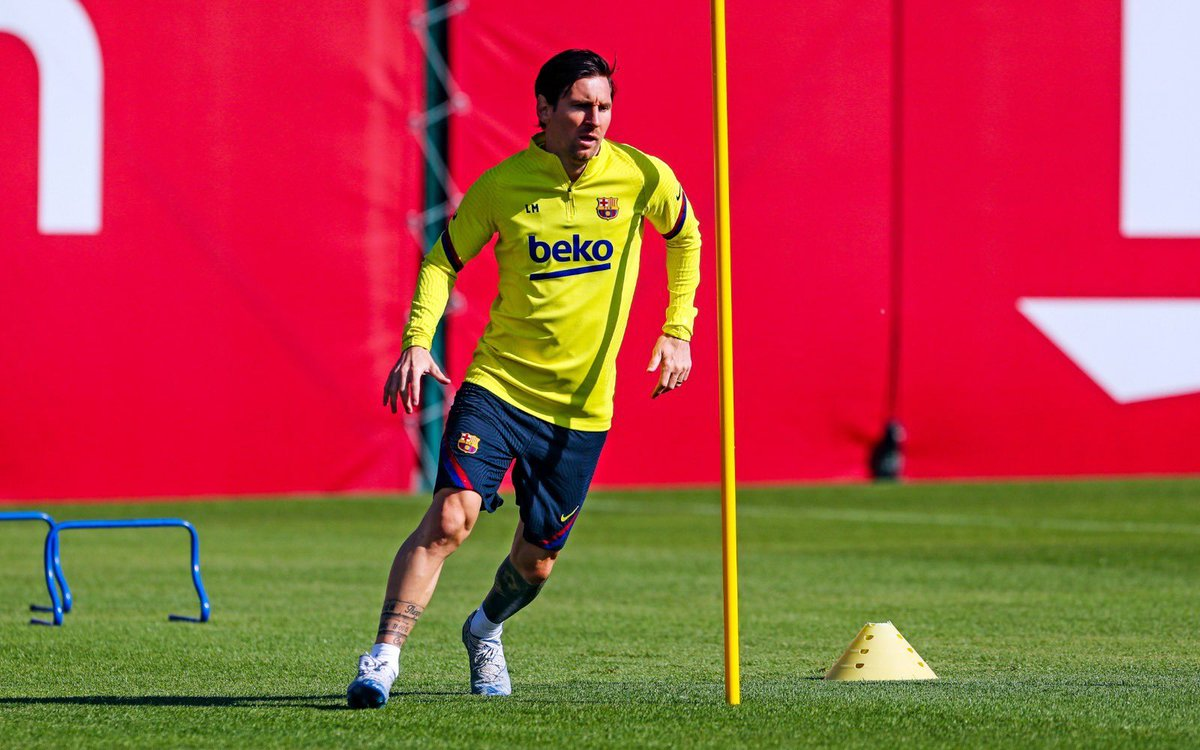 "Barça Universal on Twitter: ""? — Leo Messi in training looking ..."
