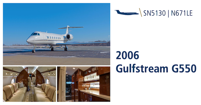 This exceptional 2006 Gulfstream G550 featuring 16 passenger configuration is now available for lease or sale. This well-equipped aircraft represents an excellent value in the marketplace. Learn more: hubs.ly/H0qkNF50. #bizav #bizjet #gulfstream