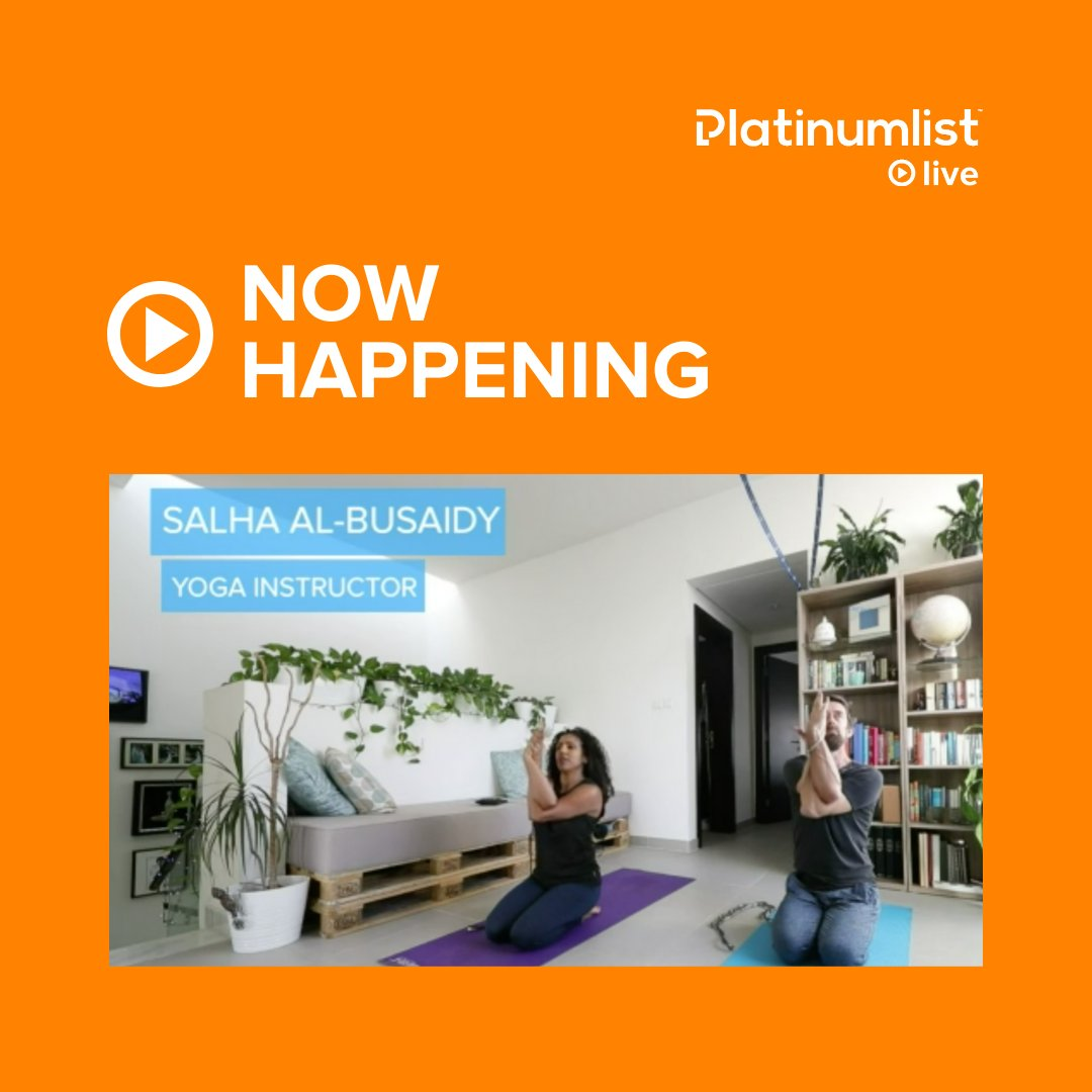 We're now live with Salha Al-Busaidy! Let's get moving! 🕺🏻 Tune in live! platinumlist.net/live