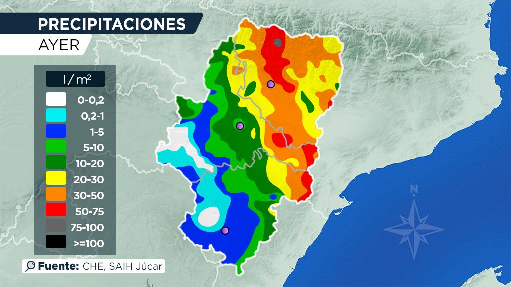 Aragón Tv El Tiempo On Twitter Las Precipitaciones De Ayer En Aragón Se Concentraron Sobre Todo En La Mitad Más Oriental De Las 3 Provincias Aunque Huesca En General Se Llevó La