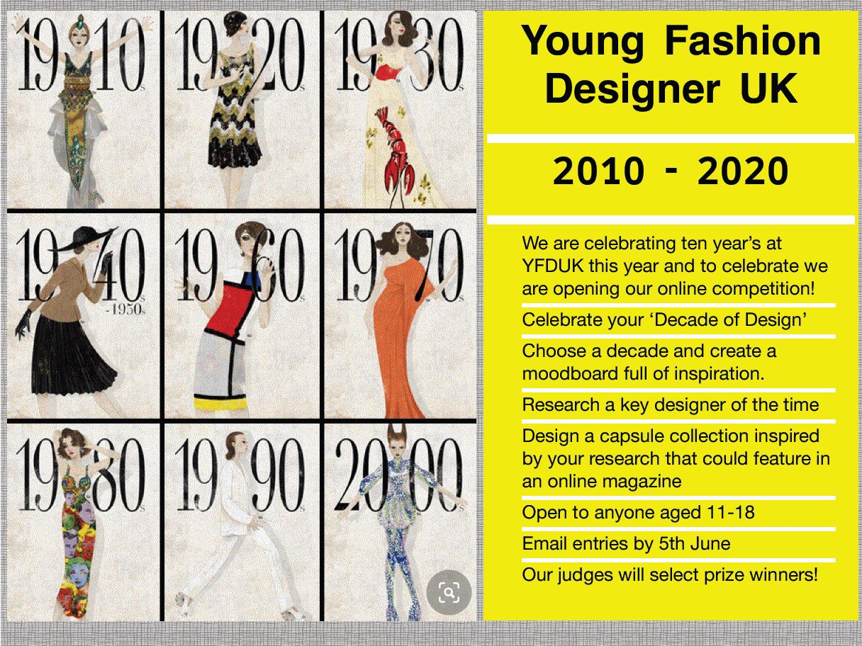 Cas Academy Dt On Twitter Young Fashion Designer Uk Established In 2010 Young Fashion Designer Uk Is An Exciting National Competition Which Focuses On Enhancing The Talent Of Students To Showcase And
